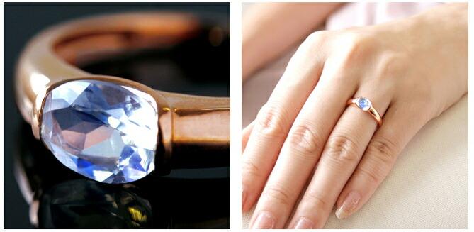 ブルームーンストーン指輪リングレディース