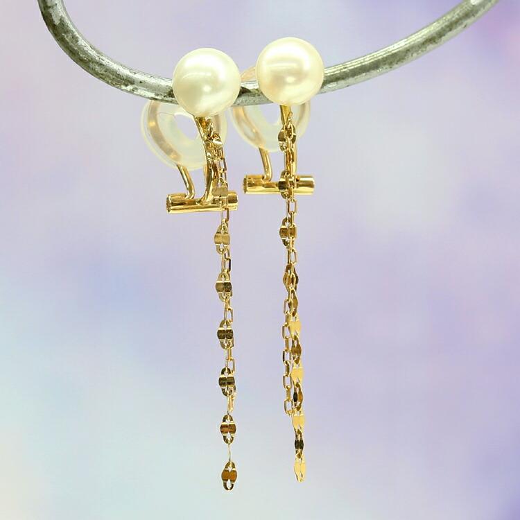 イヤリング レディース ペア 20種類の天然石 K10 クリップイアリング ピンクゴールド ホワイトゴールド 10金 10K 通販 人気 おすすめ