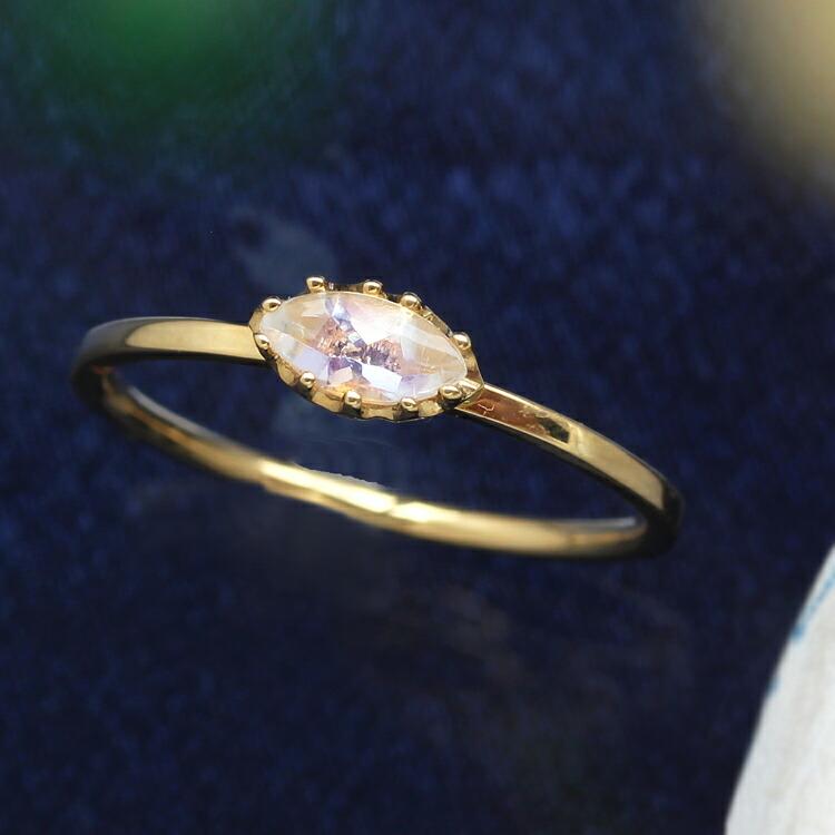 ブルームーンストーンの指輪