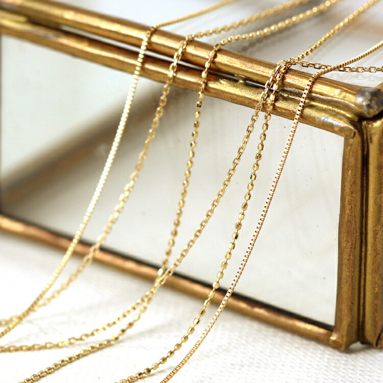 10金 ベネチアンチェーンネックレス レディース ペンダント ホワイトゴールド イエローゴールド 通販 人気 おすすめ