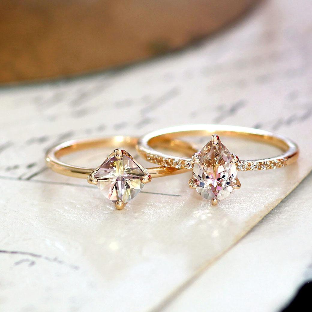ミスティローズトパーズ ミスティトパーズ イエローゴールド 11月誕生石 レディース リング 指輪 10K 10金 通販 人気 おすすめ