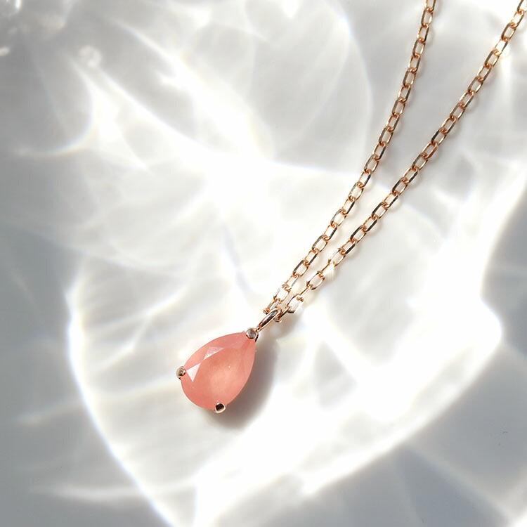 10金 ネックレス 桜モチーフ ローズクォーツ Y字ネックレス ペンダント 通販 人気 おすすめ