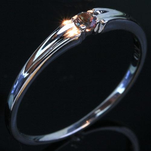10金 アレキサンドライト ホワイトゴールド ピンクゴールドリング レディース 指輪 通販 人気 おすすめ