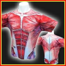 【解剖学Tシャツ】筋肉Tシャツ フルプリントエディション
