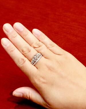 【送料無料】JRA0085B ロイヤルアッシャー ダイヤモンド リング 王冠デザイン(プラチナ) キラキラ宝石店