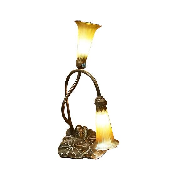 ティファニー:リリィランプ 2灯・アメリカ製