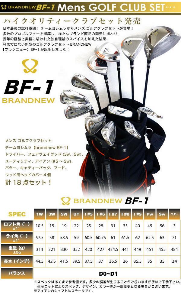 ゴルフクラブセット:チームヨシムラ BF-1