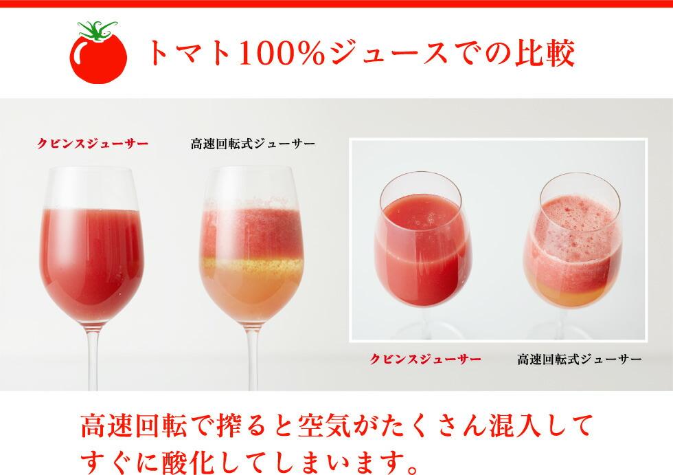 トマト100%ジュースでの比較
