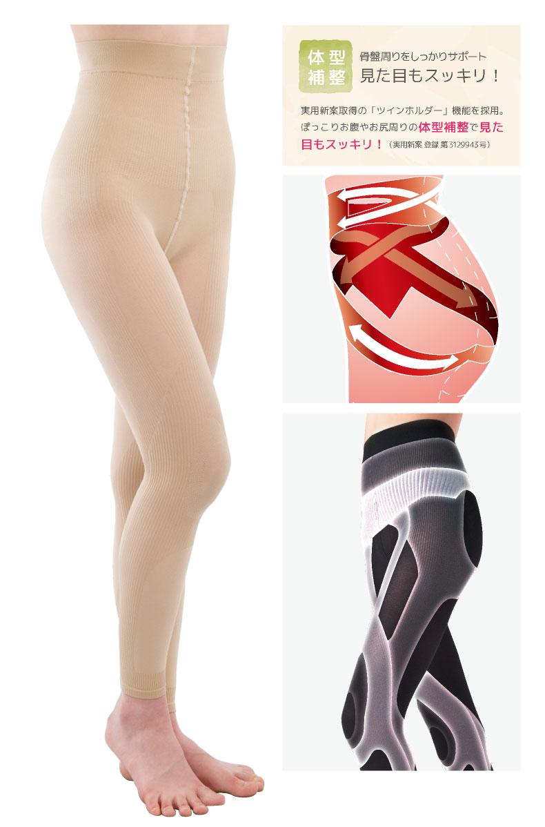 らくりんテーピングスパッツ7分丈膝痛サポート骨盤サポート腰痛サポート 膝テーピングシェイプアップスパッツウォーキングスパッツアクティブネオ