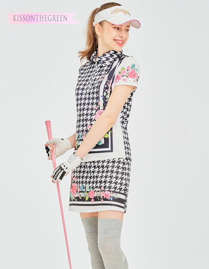 ゴルフウェア レディース サンバイザー / ロゴ入りハートサンバイザー / 全7色 フリーサイズ コットン素材 定番 無地