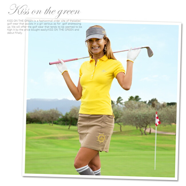 ゴルフウェア レディース ポロシャツ 春 夏 おしゃれ レディース ゴルフ 半袖 ゴルフポロシャツ 大きいサイズ レディース ゴルフウエア ゴルフウェアー 無地 シンプル トップス カラートップス M〜L キスオンザグリーン