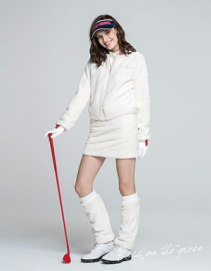 冬のゴルフに!ホワイトアイテムで透明感のあるゴルフスタイルに!
