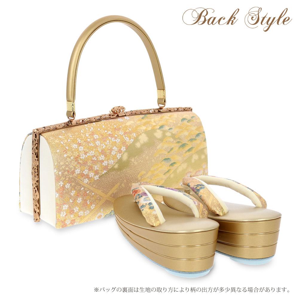 <長島成織物>正絹帯地草履バッグセット