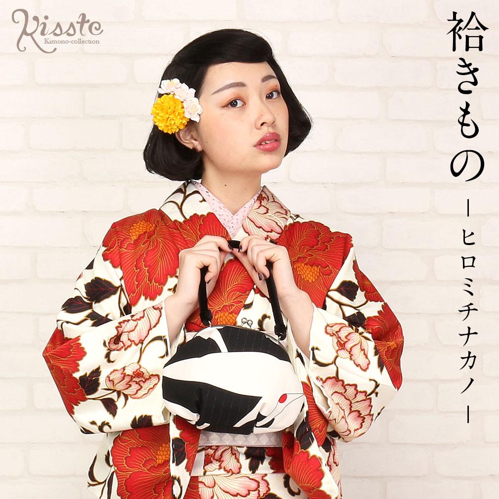 hiromichi nakano/ヒロミチナカノ 袷きもの (クリーム/牡丹)