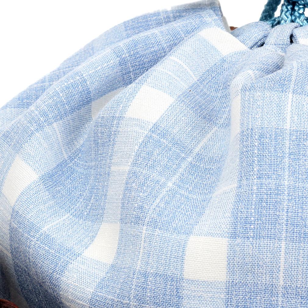藤かごが涼やかな浴衣用カゴ巾着