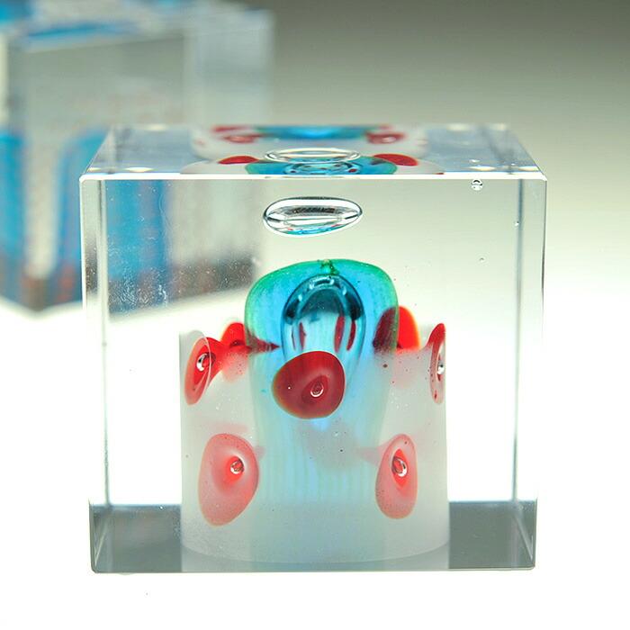iittala/イッタラ (Nuutajarvi/ヌータヤルヴィ) Oiva Toikka オイバ・トイッカ Annual Cube アニュアル キューブ (箱入り) 《ビンテージ/vintage/ヴィンテージ》  2001年