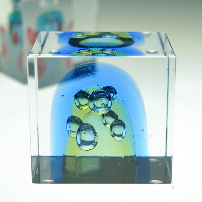 iittala/イッタラ (Nuutajarvi/ヌータヤルヴィ) Oiva Toikka オイバ・トイッカ Annual Cube アニュアル キューブ (箱入り) 《ビンテージ/vintage/ヴィンテージ》  2007年