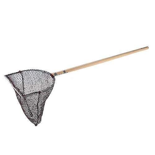 木柄 玉網 長三角型 (活魚用) 28cm  28cm