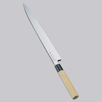 正本 コバルト鋼 柳刃刺身(片刃) 包丁 24cm  24cm