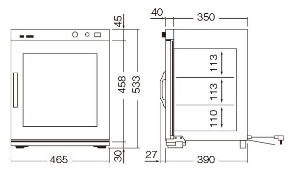遠赤外線温蔵庫 NB-4EG【業務用厨房機器のキッチンマーケット】