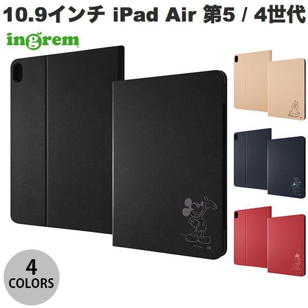 ingrem 10.9インチ iPad Air 第4世代 ディズニーキャラクター レザーケース  イングレム