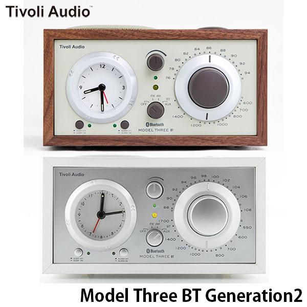 Tivoli Audio Model Three BT Generation2 Bluetooth 5.0 ワイヤレス AM/FM ラジオ・スピーカー アナログクロック付き チボリオーディオ