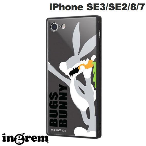 ingrem iPhone SE 第2世代 / 8 / 7 ルーニー・テューンズ 耐衝撃ケース KAKU トリプルハイブリッド バックス・バニー # IQ-WP7K3B/LN1  イングレム