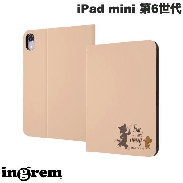 ingrem iPad mini 第6世代 トムとジェリー レザーケース トムとジェリー後ろ姿 # IJ-WPA17LCBE/TJ20  イングレム