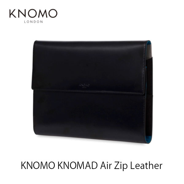 KNOMO LONDON KNOMAD Air Zip Leather # 114-091-BLK  ノモ ロンドン