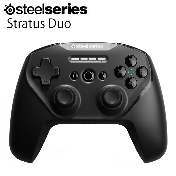 SteelSeries Stratus Duo 有線 / Bluetooth 接続 / 2.4GHz 無線 レシーバー付き コントローラー # 69075  スティールシリーズ