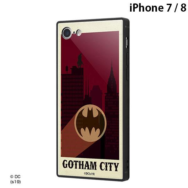 ingrem iPhone 8 / 7  バットマン 耐衝撃ケース KAKU トリプルハイブリッド ゴッサムシティ # IQ-WP7K3B/BM003  イングレム