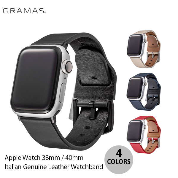 GRAMAS Apple Watch 38mm / 40mm Italian Genuine Leather Watchband  グラマス