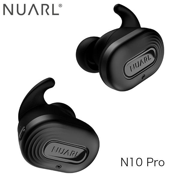 NUARL N10 Pro Bluetooth 5.0 ノイズキャンセリング 完全ワイヤレス ステレオイヤホン ブラックメタリック # N10PRO-BM  ヌアール