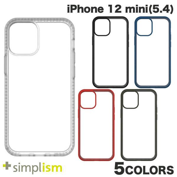 Simplism iPhone 12 mini [GRAV] 衝撃吸収 抗菌ハイブリッドケース  シンプリズム