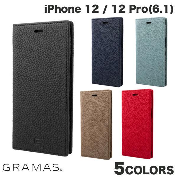 GRAMAS iPhone 12 / 12 Pro Shrunken-calf Genuine Leather Book Case  グラマス