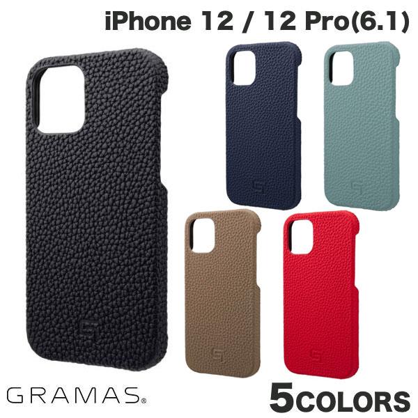 GRAMAS iPhone 12 / 12 Pro Shrunken-calf Genuine Leather Shell Case  グラマス