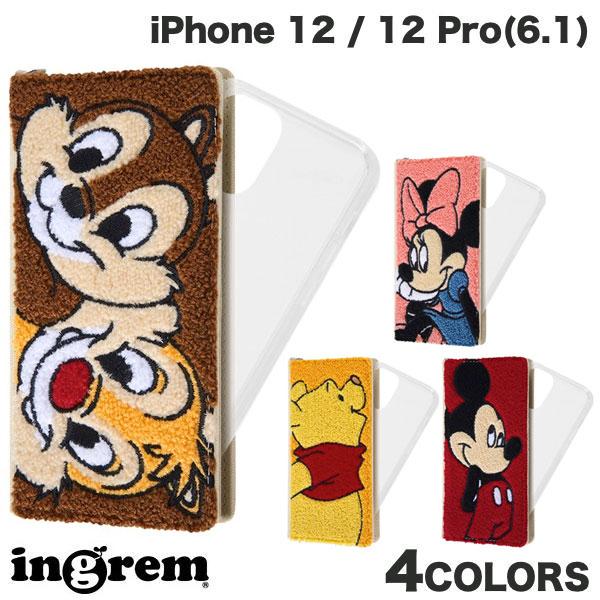 ingrem iPhone 12 / 12 Pro ディズニーキャラクター 手帳型 FLEX CASE サガラ刺繍  イングレム