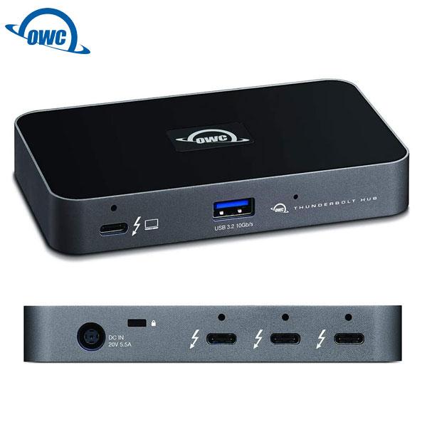 【国内正規品】 OWC Thunderbolt Hub 独立型デイジーチェーン×3 / Thunderbolt 4 ×4 / USB-A ×1 / 4K-8K接続 / 60W給電 # OWCTB4HUB5P  オーダブリュシー