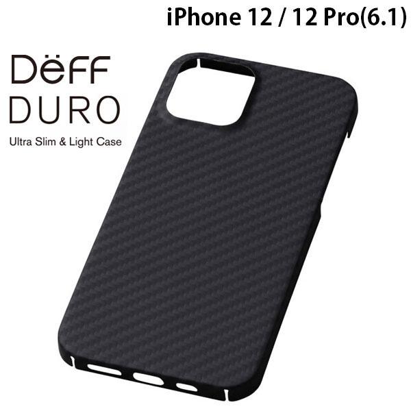 Deff iPhone 12 / 12 Pro Ultra Slim & Light Case DURO マットブラック # DCS-IPD20MKVMBK2  ディーフ
