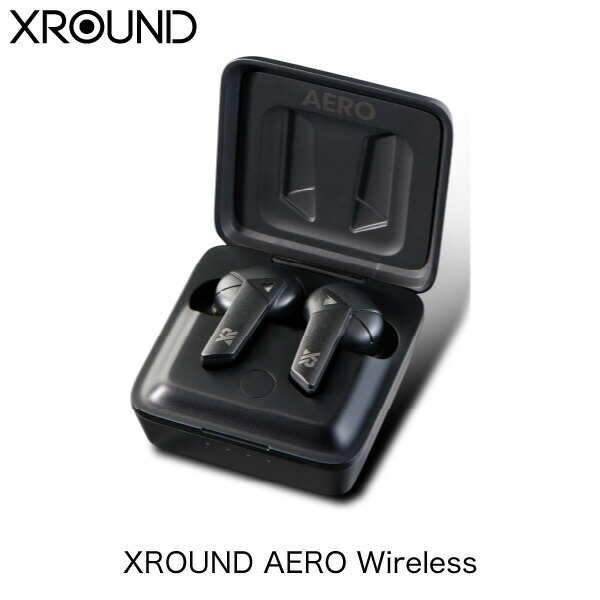 XROUND audio AERO Wireless Bluetooth 5.0 IP54 防塵防水 ゲーミングモード搭載 完全ワイヤレスイヤホン # XRD-XAW-01