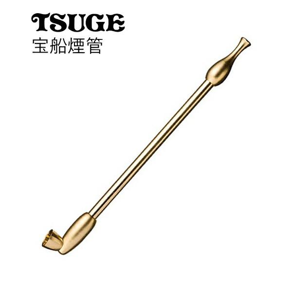 短めの真鍮きせる宝船煙管銀色(160mm)