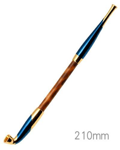 手造りきせる171 浅草煙管 元禄藍金色鍍金(200mm)
