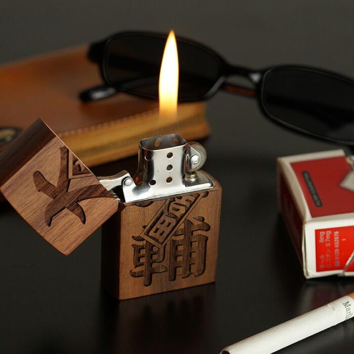 木製オイルライター 名前入りプレゼント 天然木 楽天