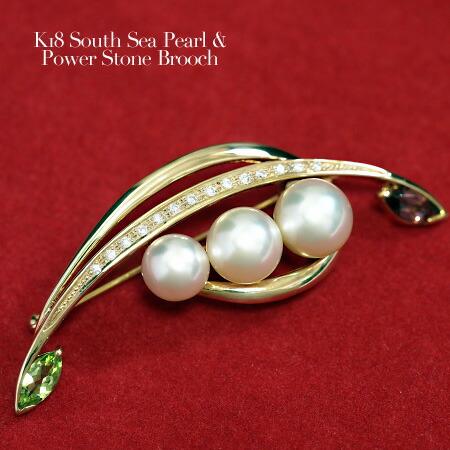 南洋真珠 デザインブローチ