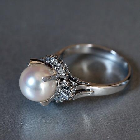 【パール】【リング】【真珠】【あこや】【レディース】
