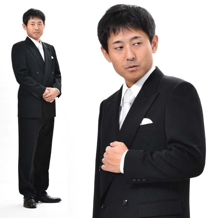 キングサイズのブラックスーツ