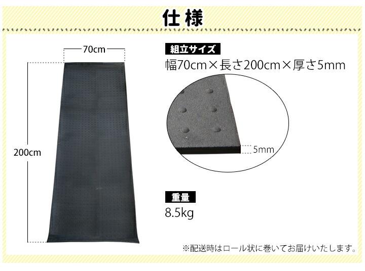 農業用ゴムマット70cm×2m
