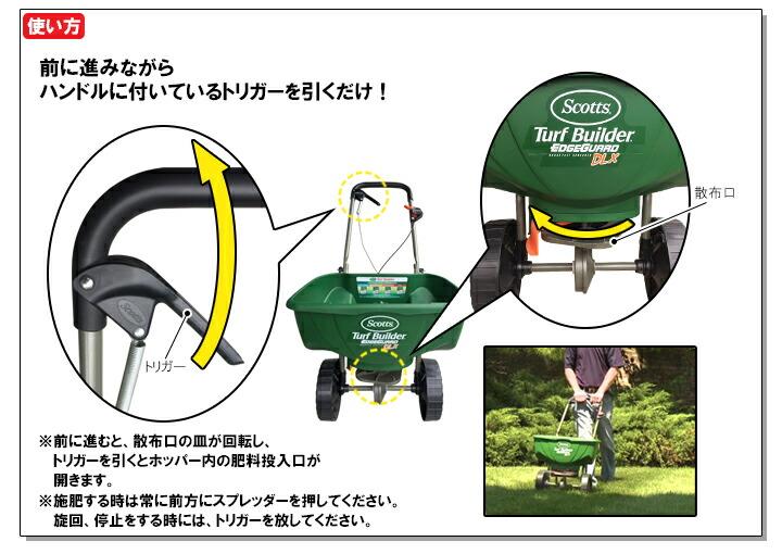 肥料散布機 デラックスエッジガード SEG-3500DX 使い方