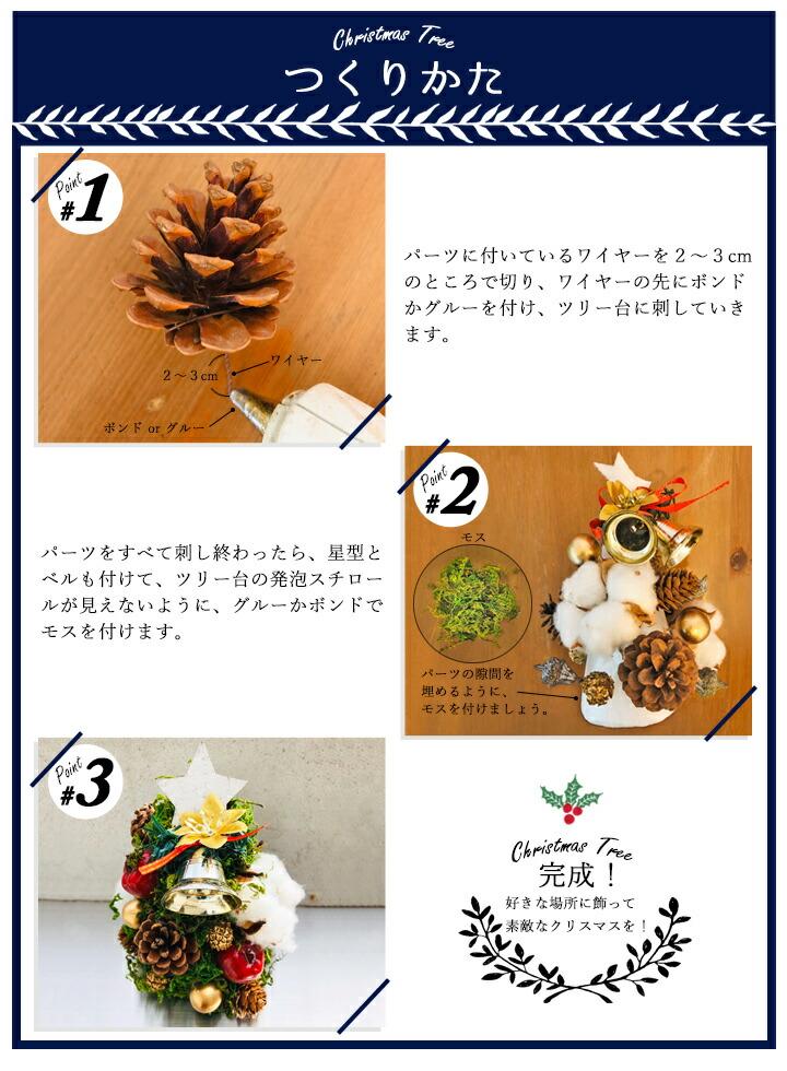 クリスマスツリー手作りキット<グリーン>作り方