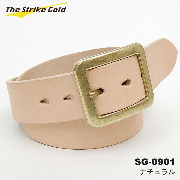 THE STRIKE GOLD(ストライクゴールド) イタリアンベンズレザーベルト プレーン SG-0901 ブラック